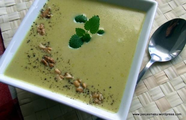 Zupa z porem i serkiem topionym